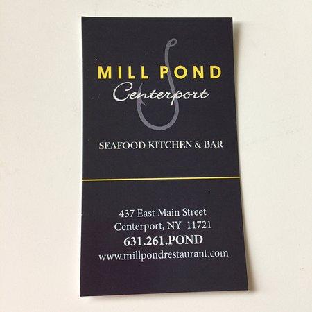 Centerport, Estado de Nueva York: Mill Pond's calling card