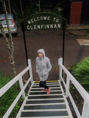Glenfinnan, UK: Entrance to the train station