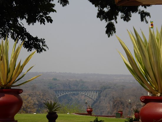 Kasane, Botswana: View from the teraace of the Victoria Falls Hotel