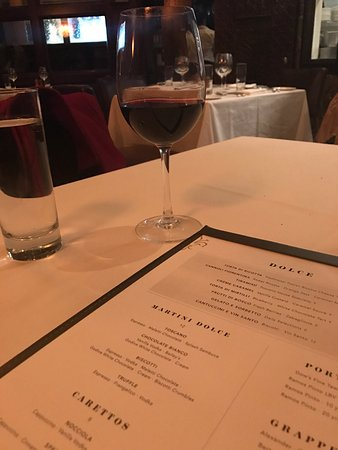 Ristorante Toscano: A little vino and dessert on the way