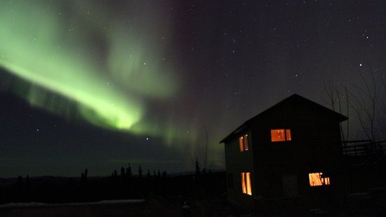 Aurora Borealis Lodge: From the deck at the main lodge