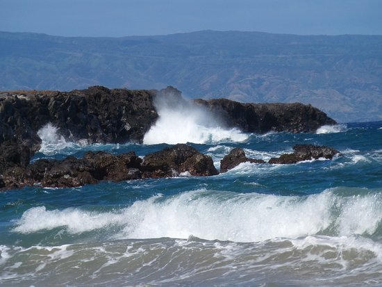 Kapalua, HI: Flemming Beach - looking towards the Dragon's teeth