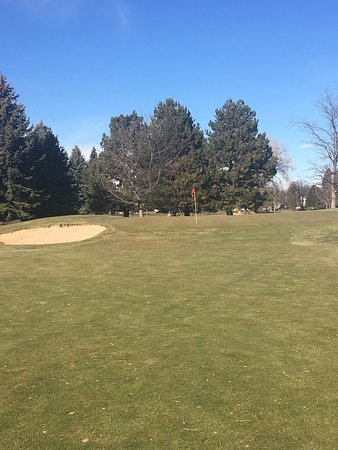 Collindale Golf Course: December golf..#17 approach
