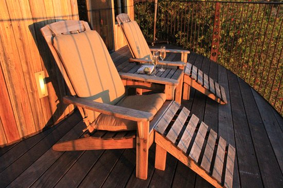 Post Ranch Inn: Sitting on your private deck, watching the sunset, with champagne.
