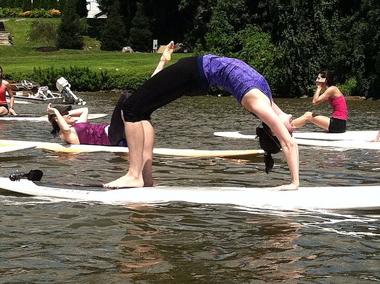 SUP Yoga Class, Hudson River, Cold Spring
