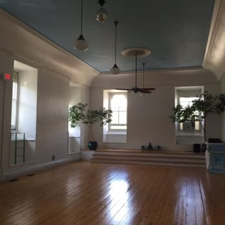 Cold Spring, NY: Yoga Studio with sky blue ceiling