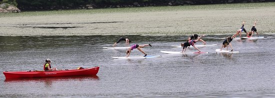 Cold Spring, Estado de Nueva York: SUP Yoga on the Hudson River
