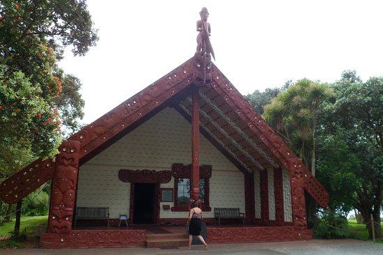 Paihia, Yeni Zelanda: The Maori meeting house