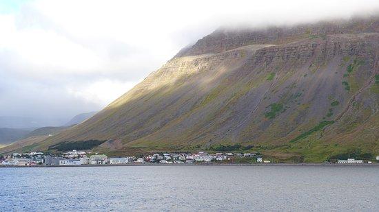 Sailing into Isafjordur