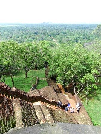 Palatset på Sigiriya (Lejonets berg): Stairs