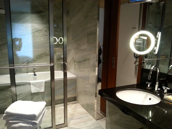 Salle de bains . Espace douche et baignoire - Photo de Grand ...