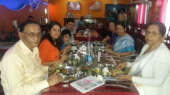 Jorhat, India: Enjoying lunch. .......