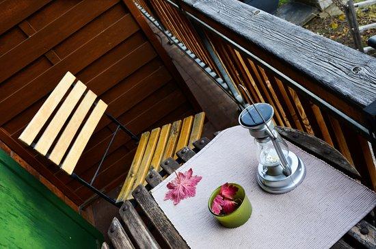 Vex, Switzerland: Balcon de la chambre Heidi