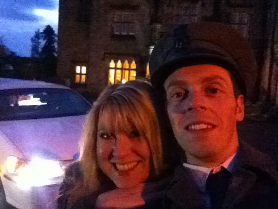 Long Eaton, UK: Chauffeur selfie at Breadsal priory