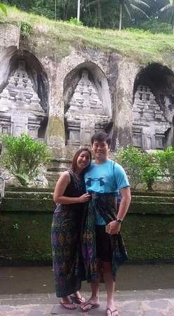 Kerobokan, Indonesia: Roanna Zheng and Sigmund Tan from Singapore at Gunung Kawi Temple - December 2016