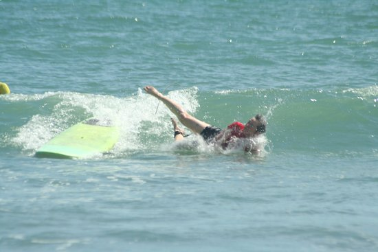 Panama Surf School: And I'm down. Tip: keep your mouth closed when you go down!