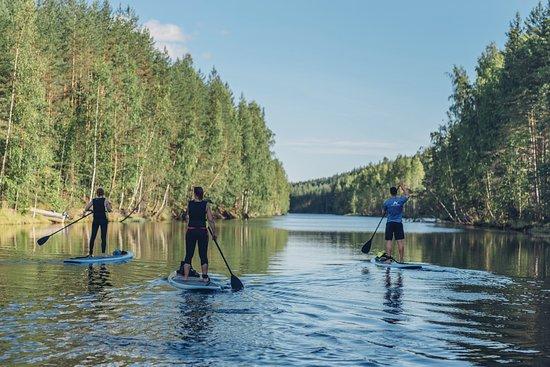 Joensuu, Finlandia: Enjoying the SUP-Höytiäinen course