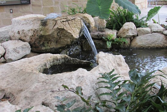 San Angelo, TX: The water exhibit outside of the Visitor's Center