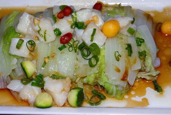 The Steamed Chinese Napa Cabbage Presentation Picture Of Seasons Oriental Agios Tychon Tripadvisor