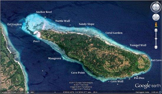 Jimbaran, Indonesia: Die Tauchplaetze rund um die Insel Menjangan !