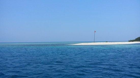 Jimbaran, Indonesia: Pulau Menjangan mit Blick Richtung, Tauchplatz Eel Garden