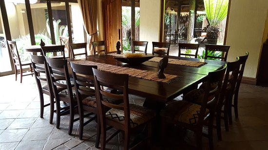 Premier Resort Mpongo Private Game Reserve River Lodge Dining Table