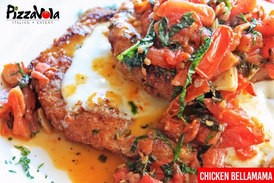 West Melbourne, FL: Chicken  Bellamama, chicken Milanese with tomato, bruschetta and fresh mozzarella