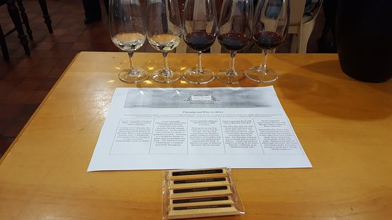 Constantia, South Africa: Tasting with Wine & Chocolate
