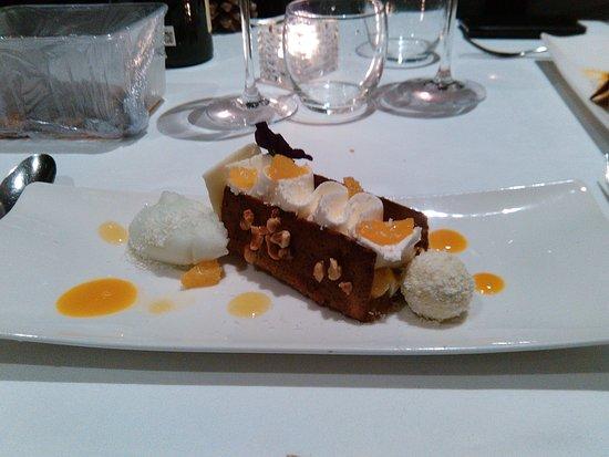Corenc, Prancis: dessert au fruit de la passion