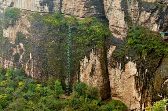 Linzhou, China: Лестница спираль.
