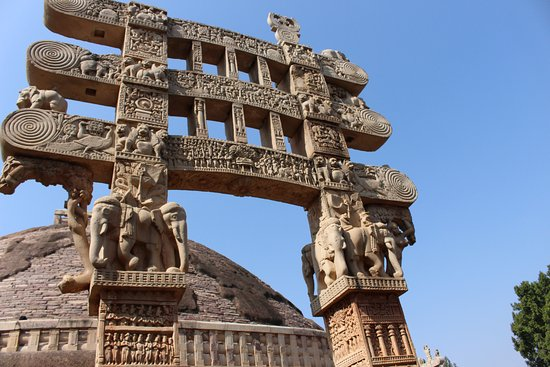 Buddhist Monuments at Sanchi : One of the four entrances