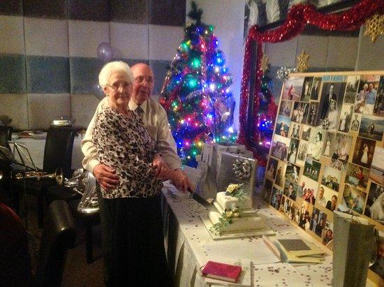Littleborough, UK: Mum and Dad cutting the cake.