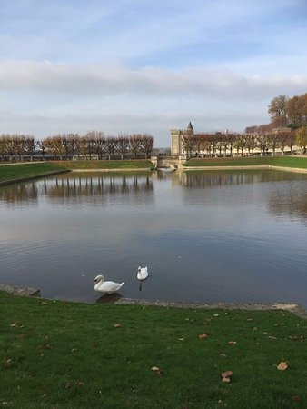 Villandry, France: view from the far side of the lake