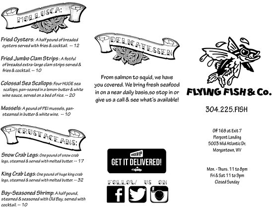 Flying fish co morgantown restaurant reviews phone for Flying fish company