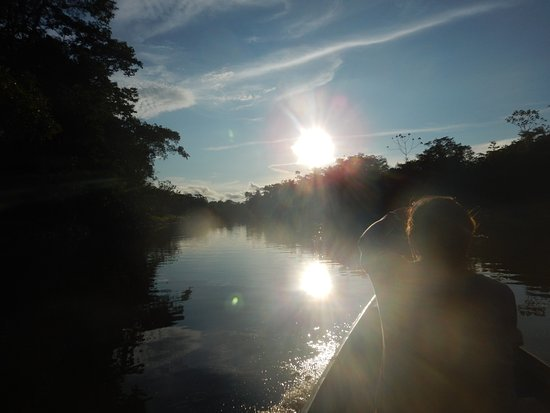 Amazonia Expeditions' Tahuayo Lodge: Coming around the corner from El Chino back to the Lodge