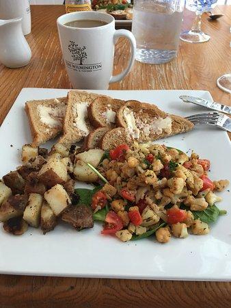 Wilmington, VT: Vegan scramble!