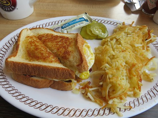 Lenoir City, TN: Texas Bacon, Egg and Cheese Melt Sandwich with Hashbrowns and onion
