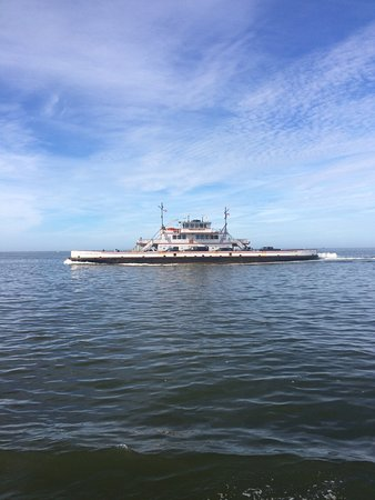 Southport, NC: Ferry passing