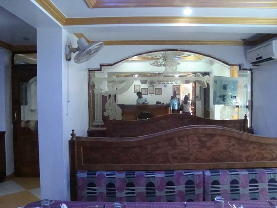 Hotel Tathagat International : View of reception from dining room