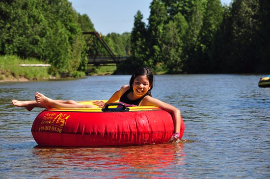 Saugeen Springs R.V. Park: Tubing on the Saugeen River...