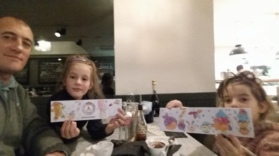 Pizza Express: New activity packs were very popular with children!