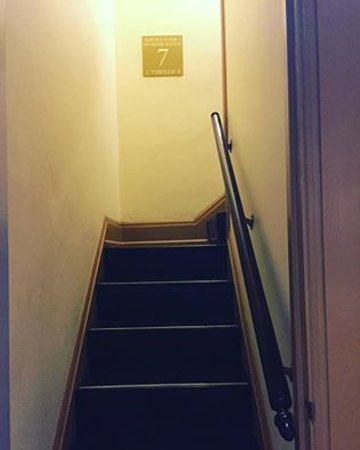 Hotel deLuxe: Allegedly haunted staircase