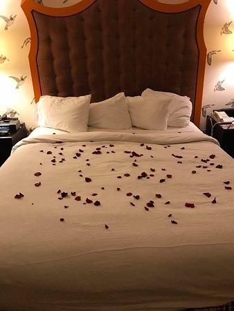 Kimpton Hotel Monaco Portland: Rose petals at turndown from the staff :)