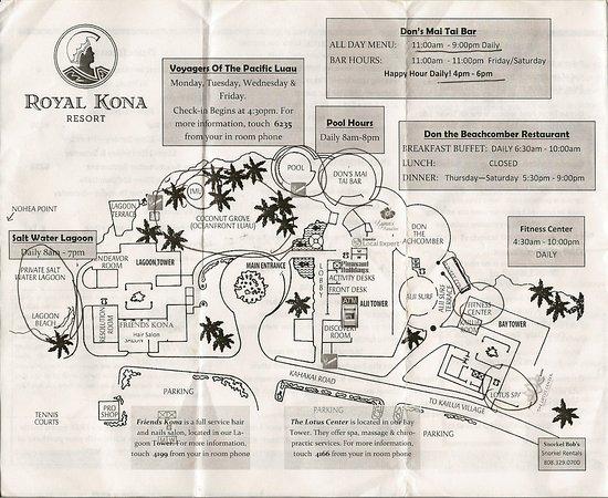 Royal Kona Resort Map Picture of Royal Kona Resort Kailua Kona