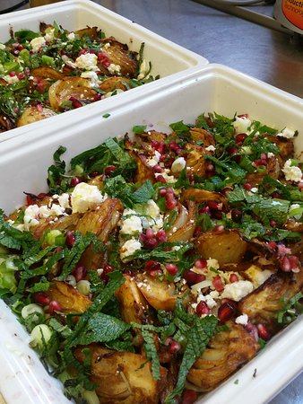 Dolma : Roasted fennel with bebere spices, feta cheese, mint, coriander, pomegranate