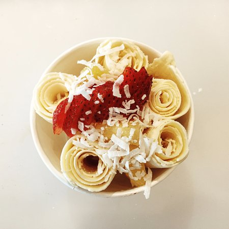Duluth, GA: Passion Fruit with strawberry, pineapple and coconut flakes