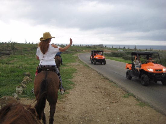 Paradera, Aruba: The ATV people wishing they were on a horse