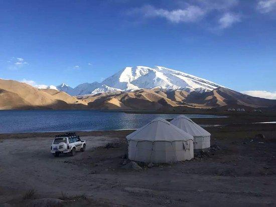 Kashi, China: Yurts by Lake Karakul