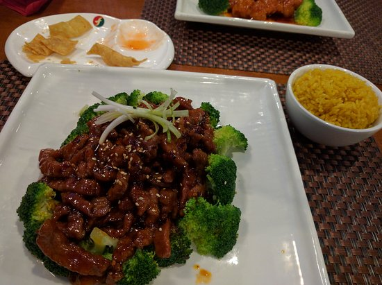 Oak Ridge, TN: Spicy Mongolian Beef with rice