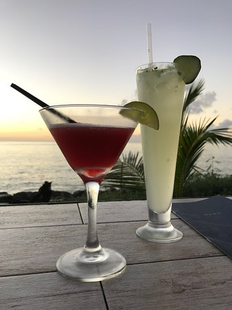 Holetown, Barbados: Our cocktails
